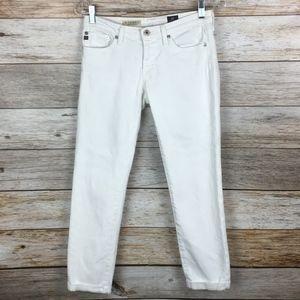 AG Adriano Goldschmied Stilt Roll-Up White Jean 26